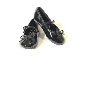 Smart Fit Toddler Black Patent Leather Flats NWOT